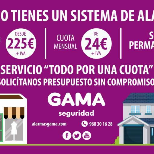 Todos los servicios de seguridad por una cuota mensual de 24 euros más IVA, instalación completa desde 225 euros más IVA, sin permanencia