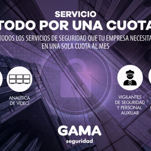 Servicio de alarmas de todo por una cuota, todos los servicios de seguridad por 35 euros al mes más IVA